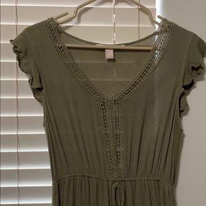 Maxi Olive Green Dress
